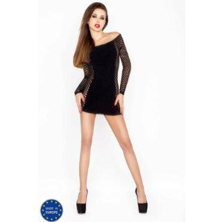 Черное мини-платье BS025 OS