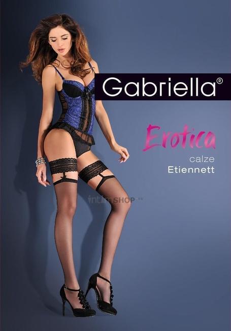 """Чулки Gabriella """"Calze Etiennett Nero"""", цвет черный, размер L/XL. Нет в наличии"""
