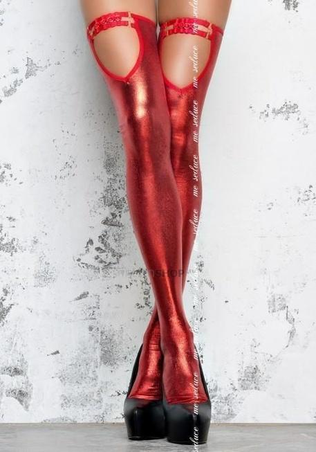 Чулки Me Seduce красные, S/M