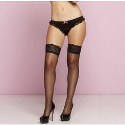 Чулки Seven`til Midnight SHEER THIGH HIGHS W/SILICONE, черный, размер OS