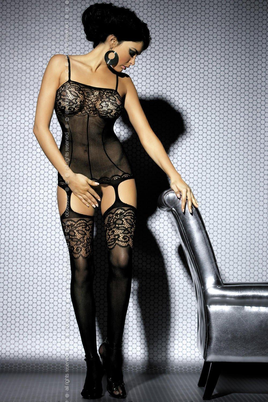 Чулок на тело Obsessive Вodystocking F204, размер S/M, цвет черный