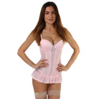 Сорочка с трусиками Seven`til Midnight, розовые, XL