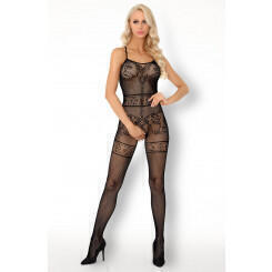 Боди LivCo Corsetti Fashion LC 17296 Serminsa bodystocking, Чёрный, S/M/L