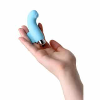 Вибронасадка на палец JOS DANKO для точки G, голубая, 9,5 см