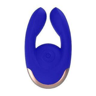 Клиторальный стимулятор Dual Motor Clitoral Stimulator Fancy, синий