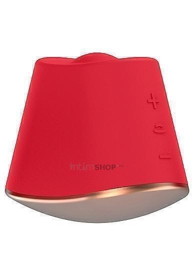 Клиторальный ротатор-стимулятор Shots Dazzling, красный