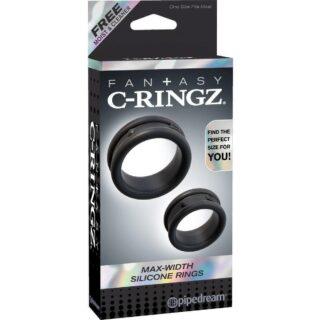 Эрекционные кольца Max-Width Silicone Rings C-Ringz, 2 шт