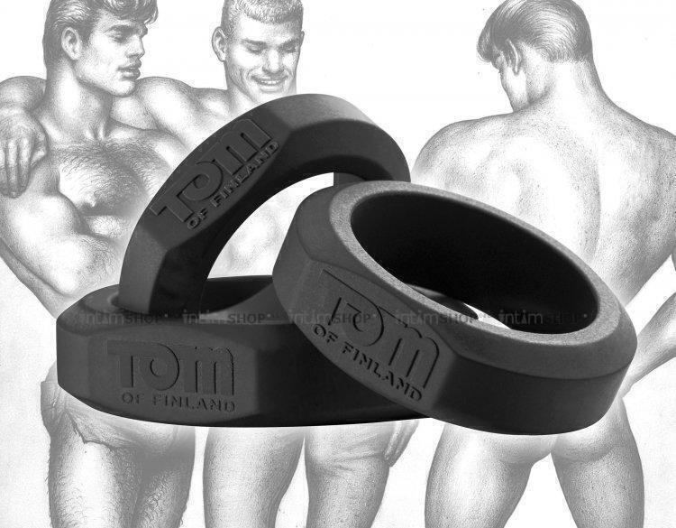 Эрекционные Кольца Tom of Finland из силикона, черный