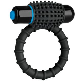 Эрекционное кольцо Doc Johnson OptiMale Vibrating C Ring, черное