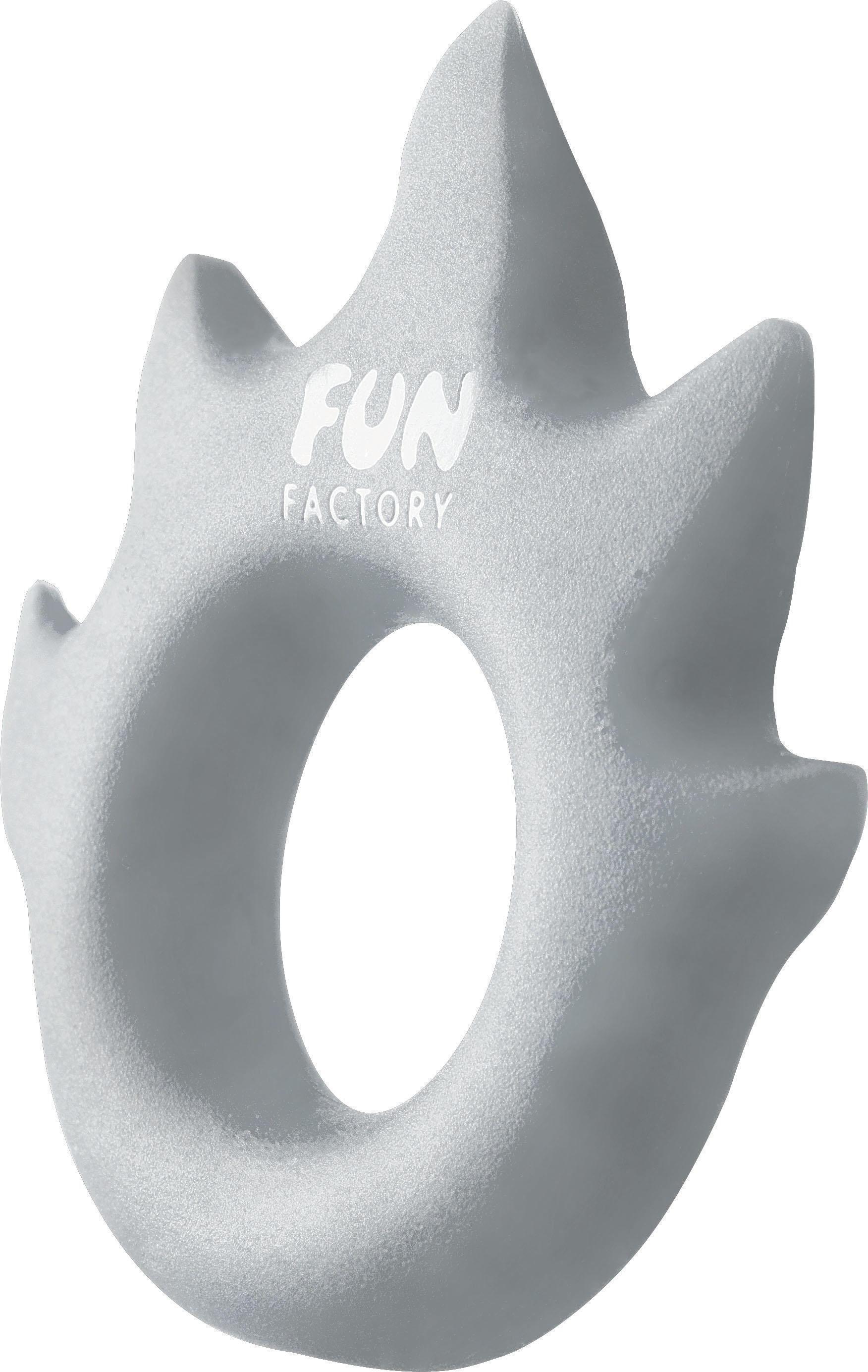 Эрекционное кольцо Fun Factory Love Ring Flame, цвет серебристый