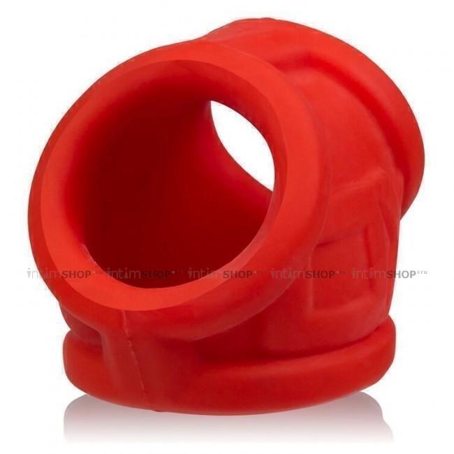 Эрекционное кольцо Oxballs Oxsling Cocksling Red OS