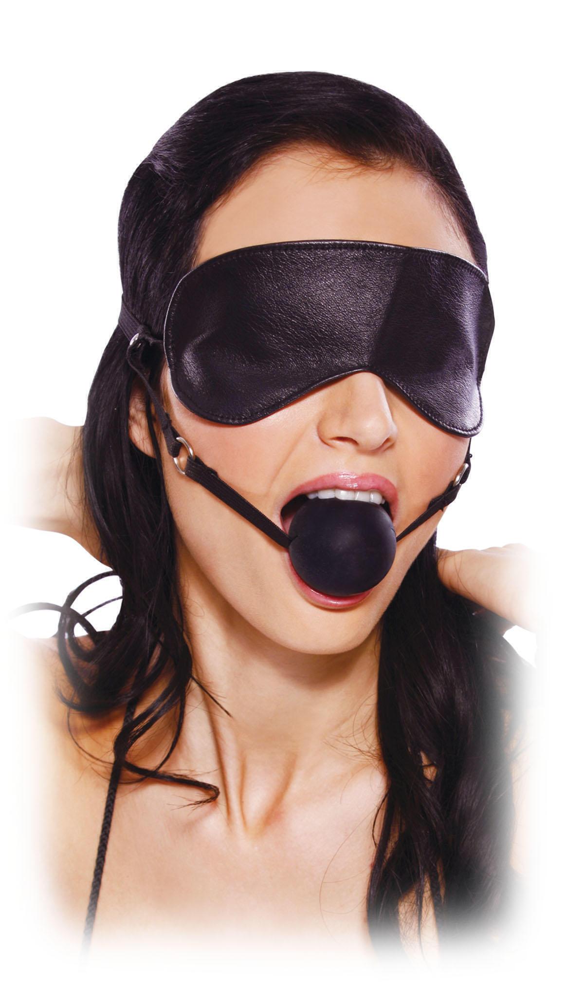 Эротический Набор Blindfold Ball Gag