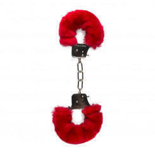 Наручники с Мехом Easytoys Furry Handcuffs EDC Collections, красные