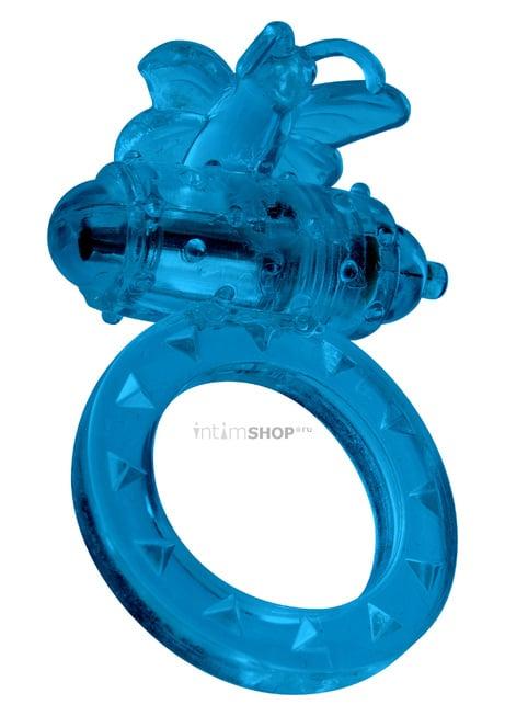 Эрекционное виброкольцо Toy Joy Flutter-Ring, синий