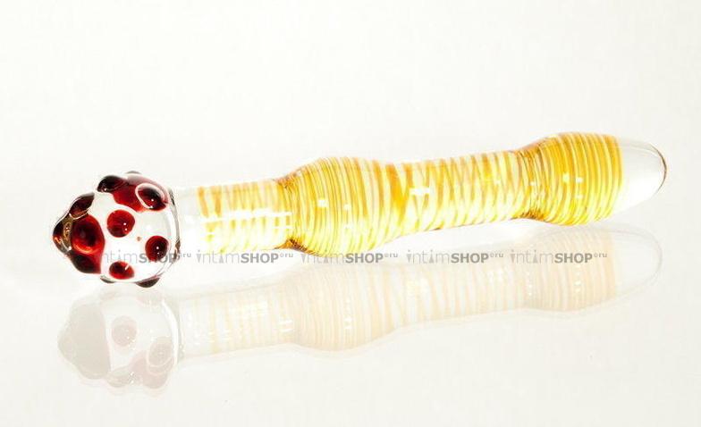 Фаллоимитатор анальный двухсторонний Sexus Glass, желтый