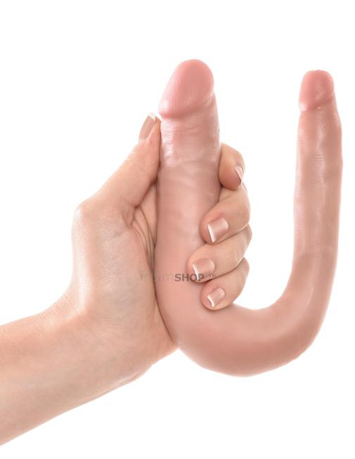 Фаллоимитатор двусторонний U-формы маленький Double TROUBLE PipeDream King Cock телесный