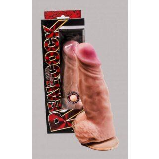 Фаллоимитатор гигант на присоске кибер кожа Bioclon Real Cock, телесный