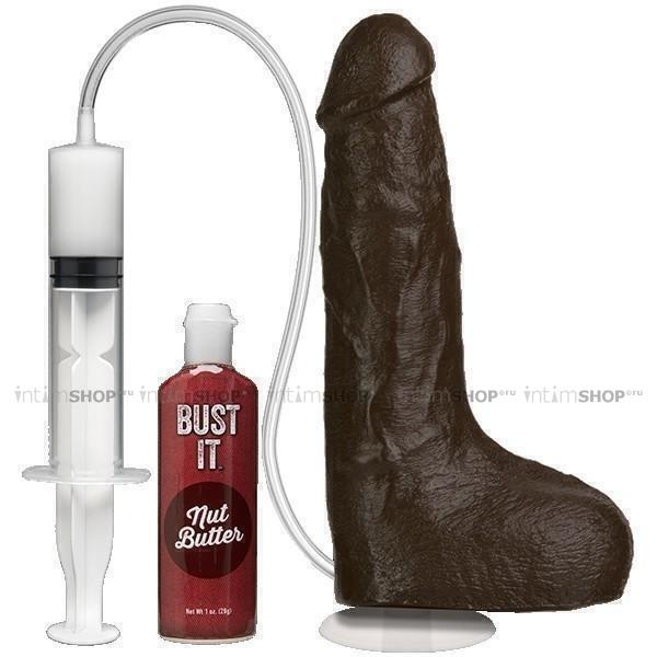 Фаллоимитатор с семяизвержением Doc Johnson Bust It - Squirting Realistic Cock, коричневый. Нет в наличии