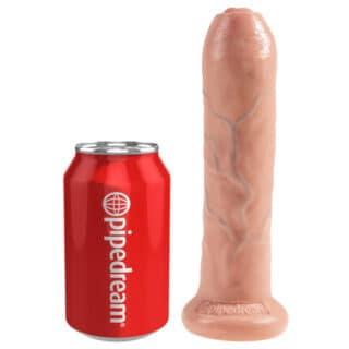 """Фалломитатор Pipedream King Cock 7"""" Uncut Cock с крайней плотью, телесный"""