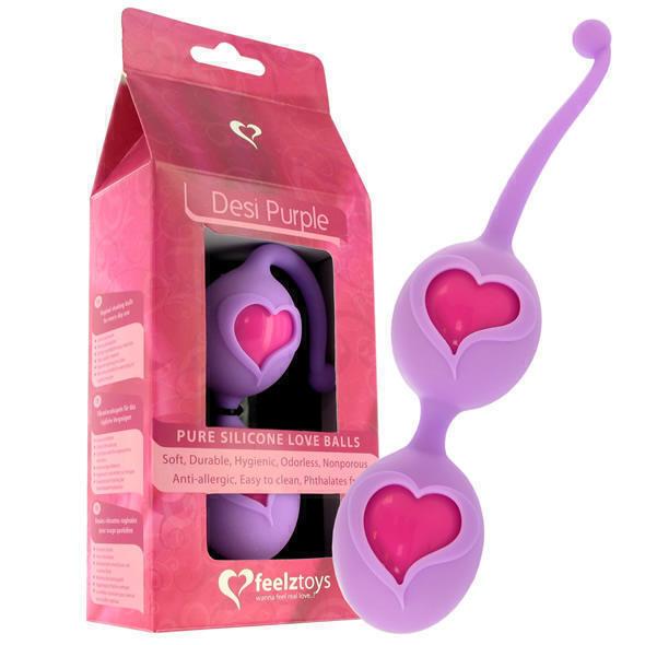 Вагинальные шарики на жесткой сцепке FeelzToys - Desi Love Balls Purple