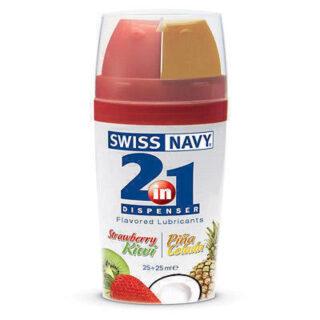 Оральный лубрикант Swiss Navy со вкусом клубники и киви - 2 х 25 мл. Нет в наличии