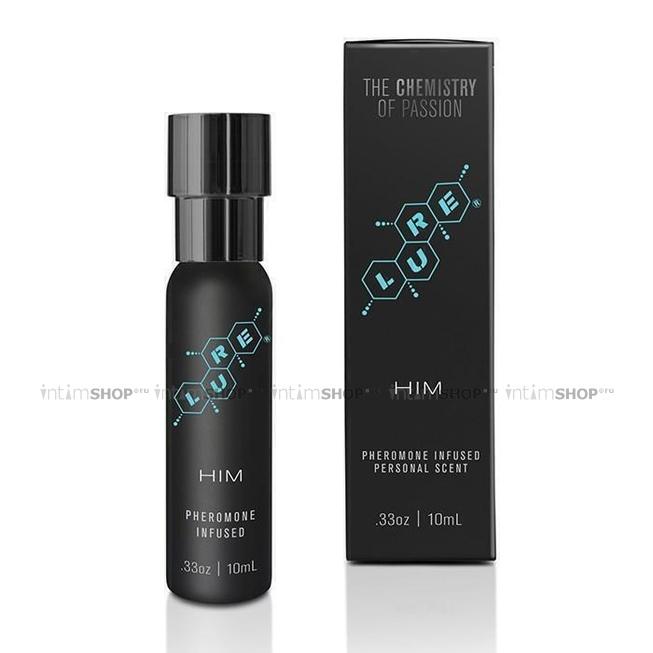 Мужской спрей для тела с феромонами Lure® Black Label For Him, Pheromone Personal Scent, 10 мл.