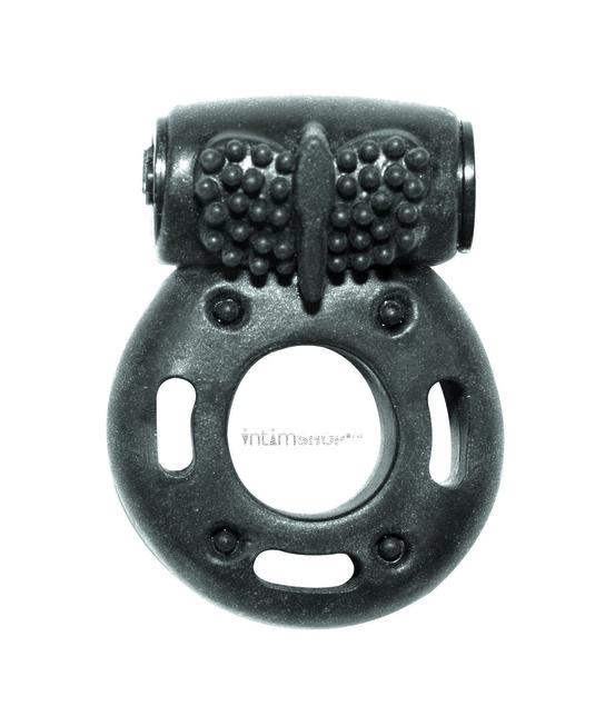 Эрекционное кольцо с вибрацией Rings Axle-pin, чёрный