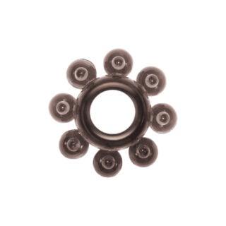 Эрекционное кольцо Rings Bubbles, чёрное