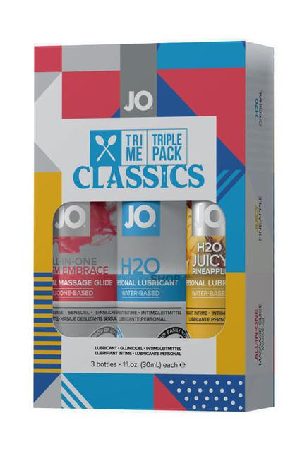 Подарочный набор лубрикантов JO Tri-Me Triple Pack Classics
