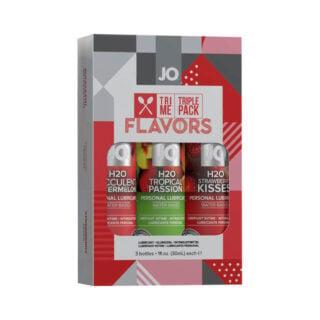 Подарочный набор ароматизированных лубрикантов JO Tri-Me Triple Pack - Flavors