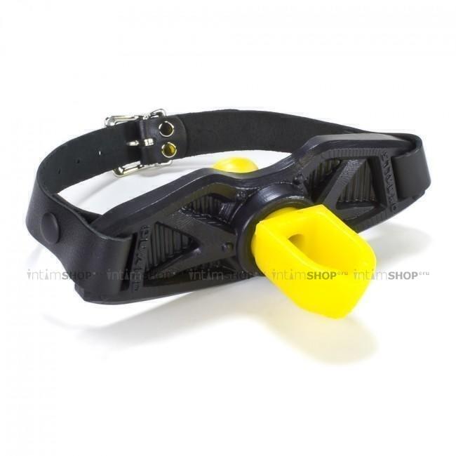 Кляп-поилка Oxballs Guard для золотого дождя чёрно-жёлтый