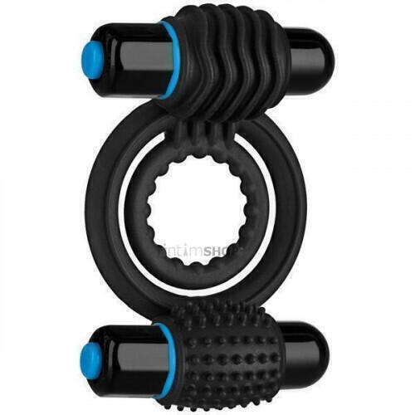 Эрекционное кольцо Doc Johnson OptiMale Vibrating Double C Ring, черное