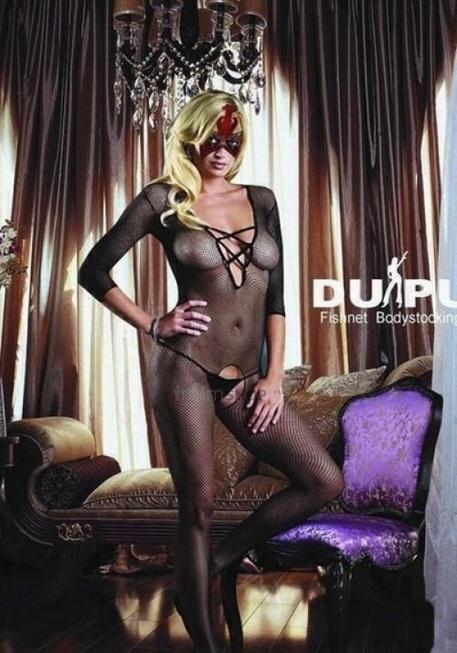 Комбинезон DUPU со шнуровкой и длинным рукавом, черный OS