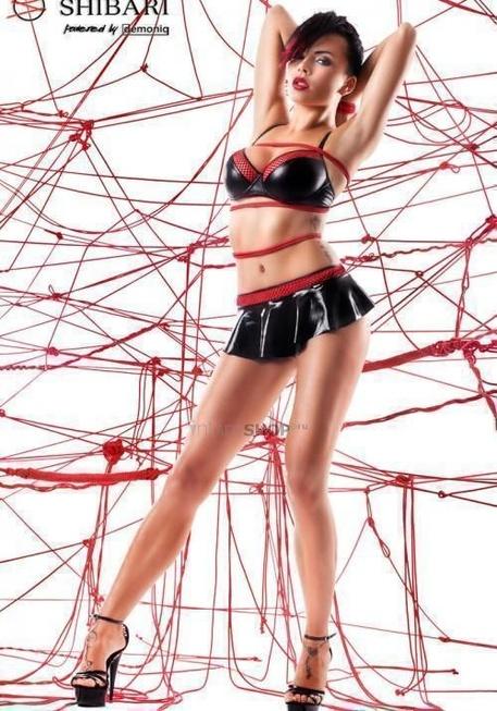 Комплект c юбкой Shibari Mai с веревками для связывания, M