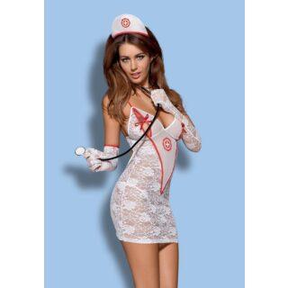 Комплект Obsessive Medica dress, S\M