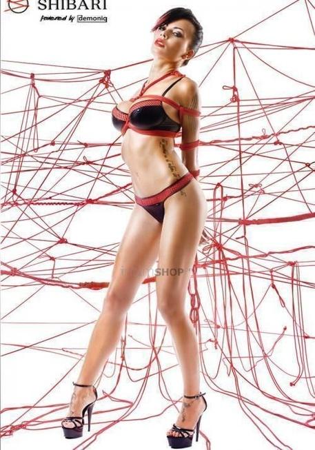 Комплект с красным тиснением Shibari Masuyo с веревками для связывания, M