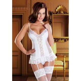 Корсаж и Трусики Avanua Marylin corset, белые L/XL