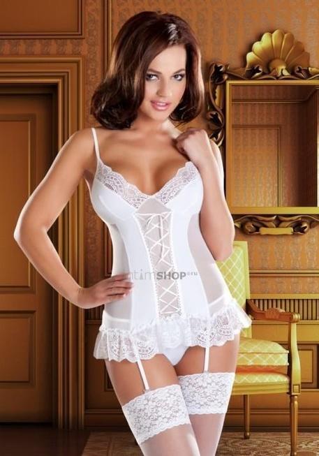 Корсаж и Трусики Avanua Marylin corset, белые S/M