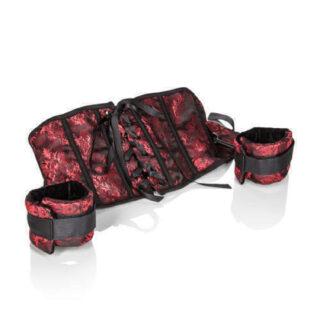 Корсет с наручниками Scandal Corset with Cuffs красный с черным