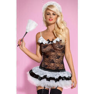 Костюм горничная Obsessive Housemaid, размер L/XL
