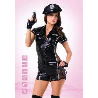 Костюм Le Frivole Эротический полицейский, черный, L/XL