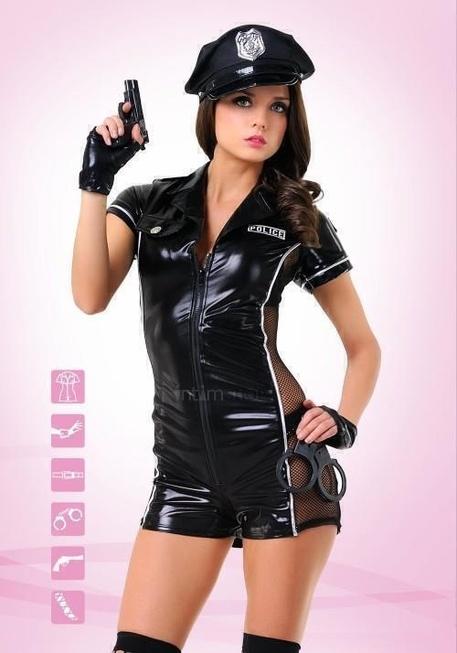 Костюм Le Frivole Эротический полицейский, черный, L/XL фото