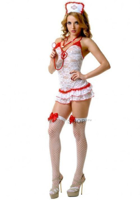 Костюм Le Frivole Медсестра кружевной, L/XL