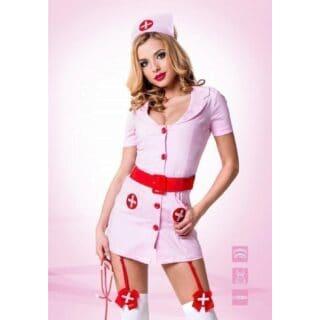 Костюм Le Frivole Похотливая медсестра розовый, L/XL