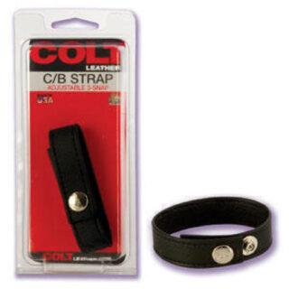 Кожаная утяжка для пениса COLT 6843-20 CD SE