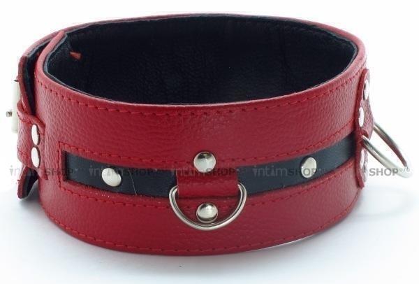 Красный кожаный ошейник
