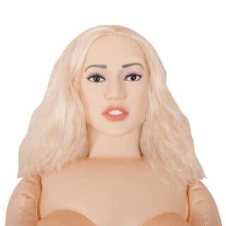 Кукла надувная с анатомическим лицом и конечностями Orion Juicy Jill