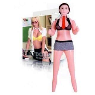 Кукла надувная с реалистичной головой ToyFa Dolls X Play Dolls костюм учительницы