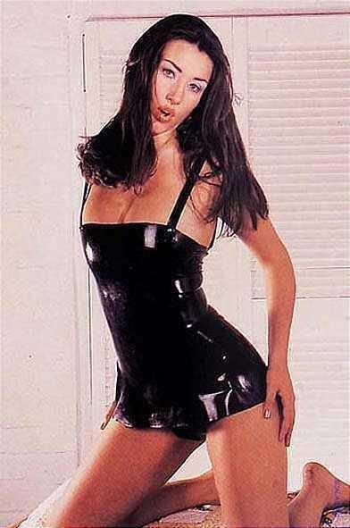 Платье на тонких бретелях Latex Dress Black