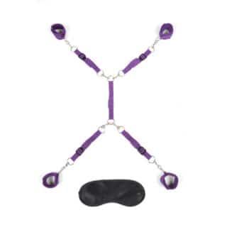 Фиксатор на матрас для рук и ног, фиолетовый Lux Fetish